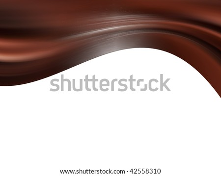 Brown dynamic waves over white background. illustration