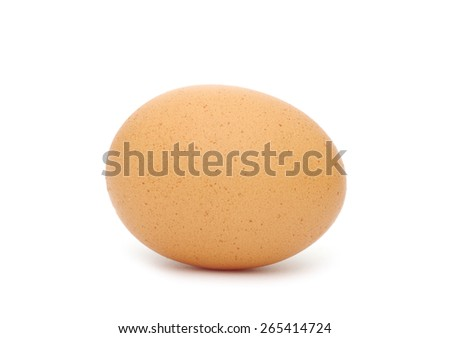 Brown egg isolated on white background - stock photo