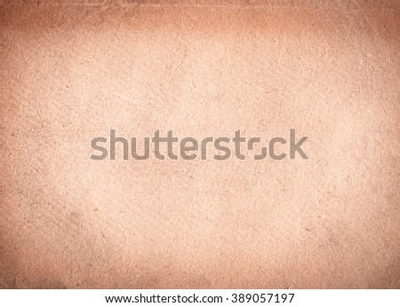 brown empty old vintage paper background. Horizontal ancient paper texture