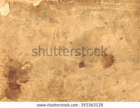 brown empty old vintage paper background. Horizontal ancient paper texture - stock photo