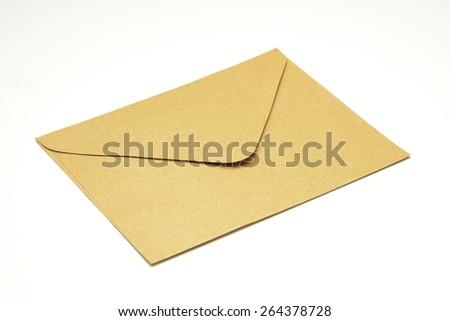 Brown envelope - stock photo