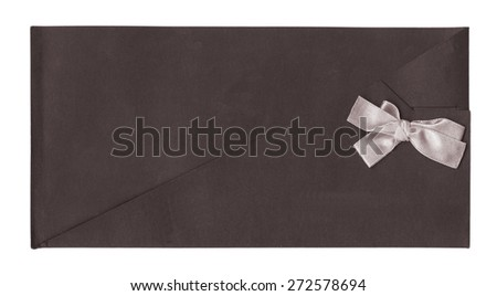 brown envelope for invitations