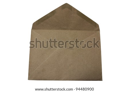 brown envelope ,isolate - stock photo