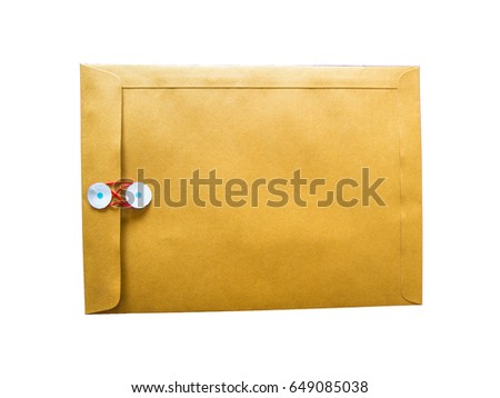 Brown envelope White background.