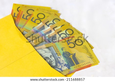 Brown Envelope with Cash for a Politician