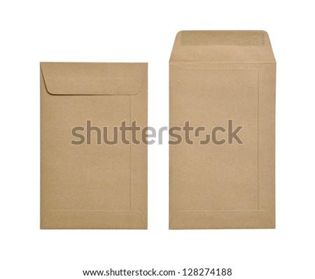 Brown envelopes - stock photo