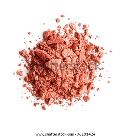 Brown eye shadow - stock photo