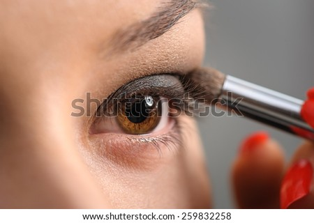 Brown Eye Smoky Makeup - stock photo