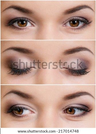Brown eyes - stock photo