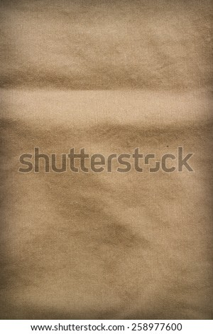Brown fabric texture. Background with delicate striped pattern. - stock photo
