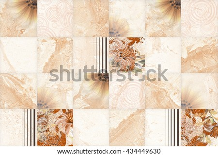 Brown Flower Abstract Pattern Seamless   - stock photo