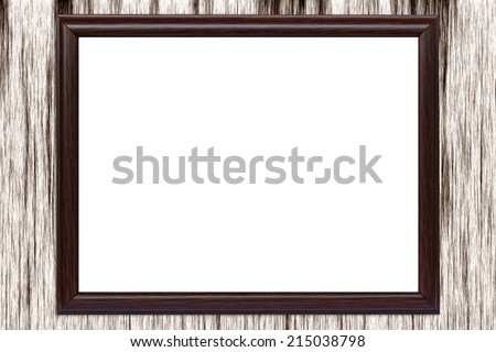 Brown frame  on wood texture