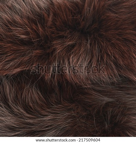 Brown fur texture fragment as a background composition - stock photo