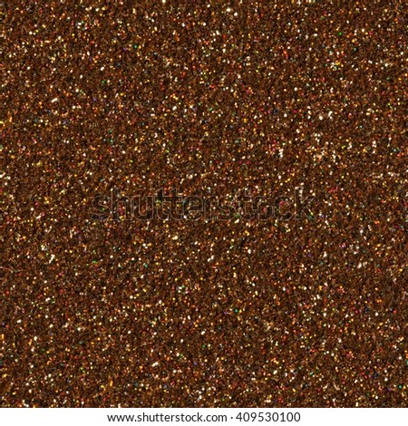 Brown glitter texture. Seamless square texture. - stock photo