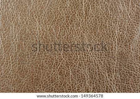 Brown Glossy Artificial Leather Background - stock photo