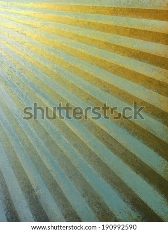 brown gold and blue background retro striped layout, sunburst abstract background pattern and texture grunge, vintage background sunrise design, nostalgic retro design, warm golden country style - stock photo