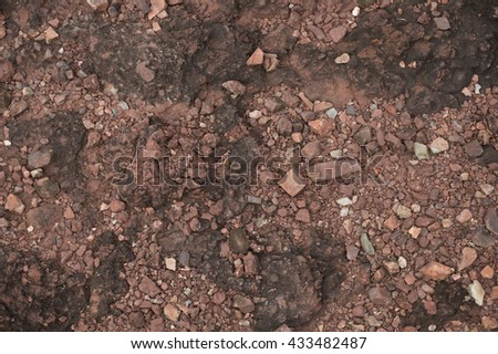 Brown gravel background