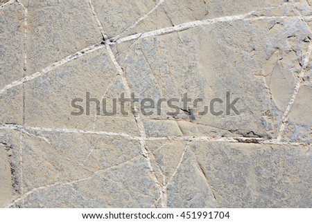 Brown gray stone with white lines texture background