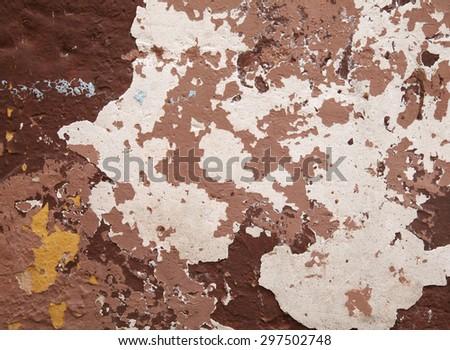 brown grunge wall - stock photo