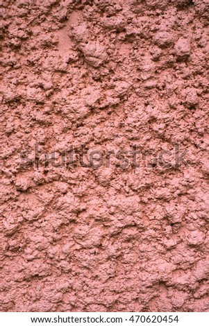 Brown handmade abstract cement plaster wall background