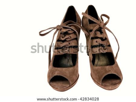 brown high heel - stock photo