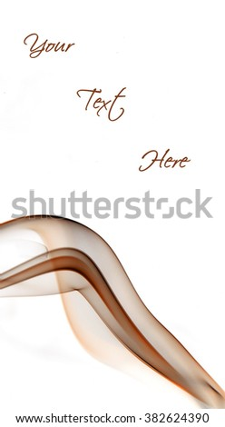 Brown insence smoke on white background with free space for your text. - stock photo