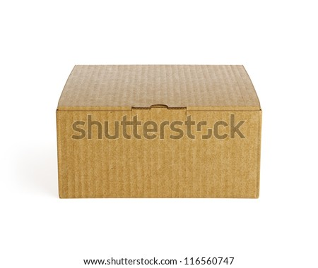 Brown isolated box. High resolution 3d render