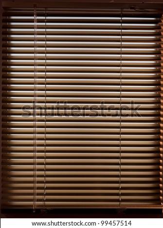 Brown jalousies - stock photo