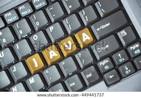 Brown java key on keyboard