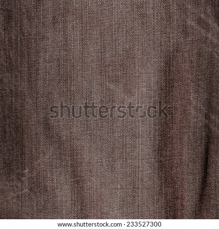 brown jeans texture as background