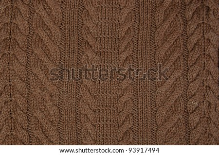 brown knitting texture or background