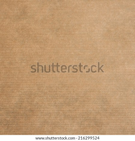 brown kraft paper texture or backgroun, square format  - stock photo
