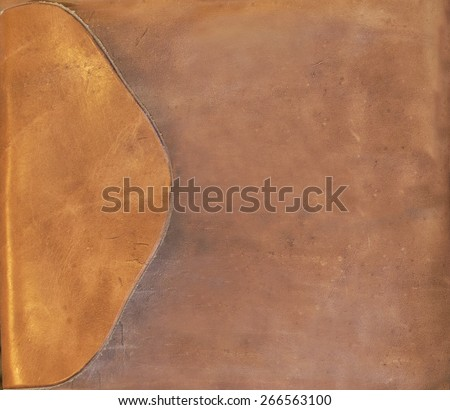 brown leather background - stock photo