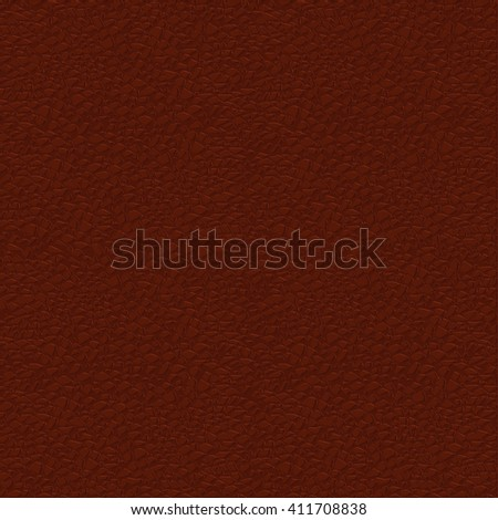Brown leather background. Illustration. Raster version