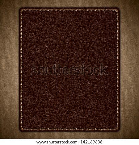 brown leather background on old rough pattern paper texture