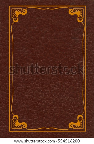 Brown leather book cover