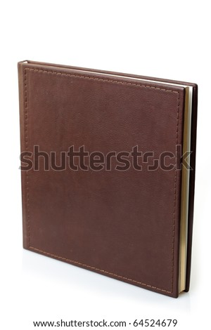 brown leather photo album cover