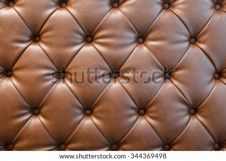 Brown leather sofa texture background.