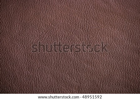 Brown leather surface (vignetted) - stock photo