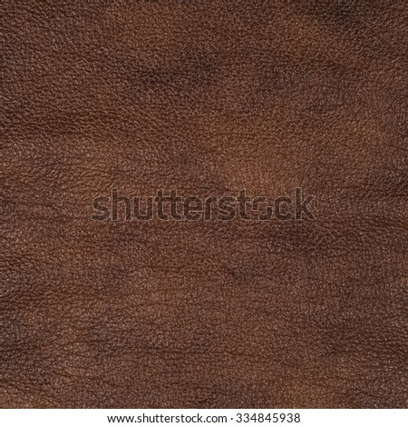 Brown leather texture closeup background - stock photo
