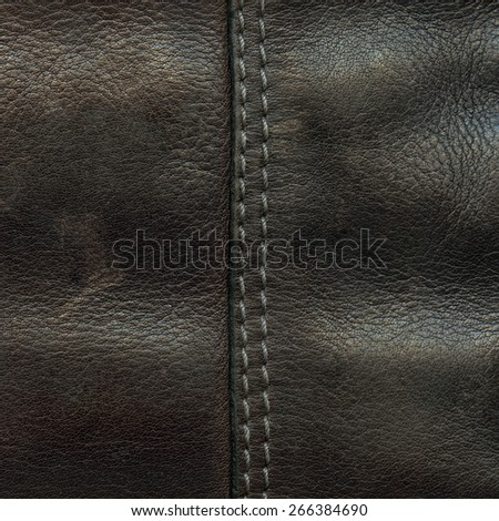 brown leather texture, seam. Can be used as background