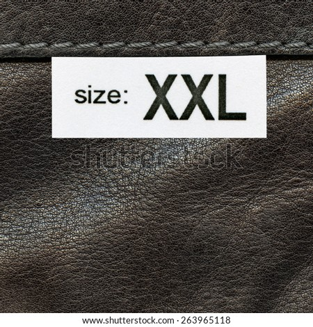 brown leather texture, seam, tag, size