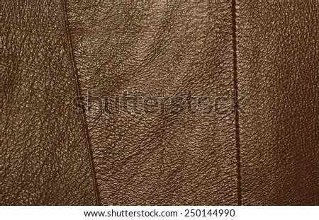 Brown leather texture with strips - stock photo