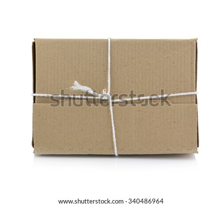 Brown mail package parcel wrap