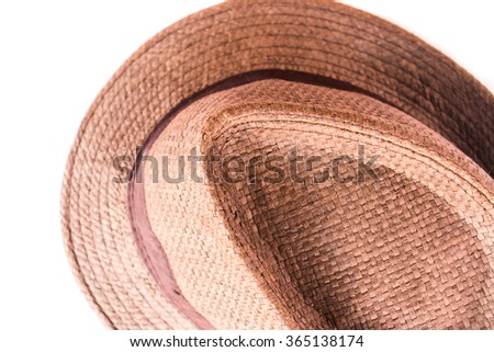 Brown man hat isolated on white background.