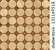Brown mosaic marble texture.(High.Res.) - stock photo