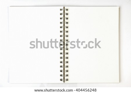 Brown Notebook Isolated on white background,brown eco notebook or scrapbook on white background,Notepad  on white background - stock photo
