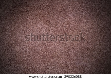 Brown nubuck leather texture with scratch design - stock photo