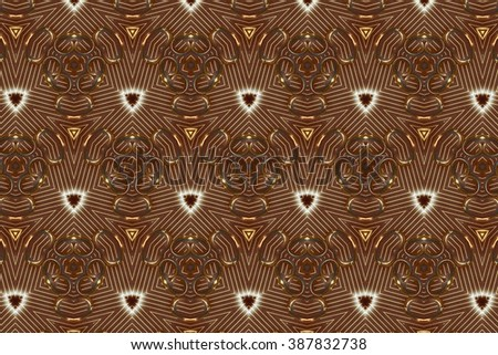 Brown ornament with patterns. 1