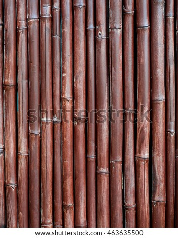 Brown painted bamboo wall background.